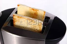 Bread Shaped Toaster Freshly Roasted Bread Pops Out From A Toaster With Heart Shaped