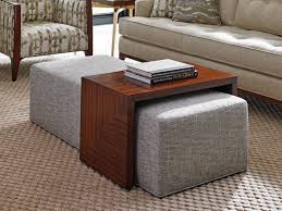 Ottoman With Table Coffee Table Square Fabric Ottoman Coffee Table Gallery Black