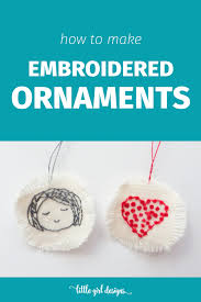 make your own embroidered ornaments designs by