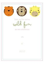 free jungle birthday party invitaton and party favor tags simply