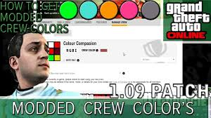 gta 5 online how to get modded paint colors modded crew