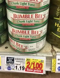 bumble bee chunk light tuna bumble bee chunk light tuna only 0 50 at kroger kroger krazy