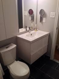 Ikea Small Bathroom Design Ideas Bathroom Cool Oak Small Vanity Storage Shelves As Modern