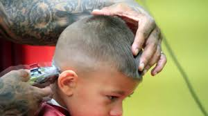 little boys haircut skin fade with design youtube