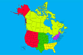 map us canada usa and canada combo powerpoint map editable states provinces map