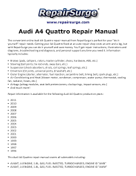 2010 audi a4 owners manual audi a4 quattro repair manual 1996 2011