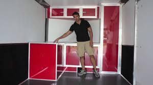 v nose trailer cabinets 8 5 x 25 v nose race trailer youtube