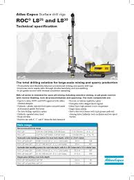 atlas copco roc l8 specifications pdf drilling rig drill