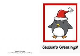 printable christmas card penguins
