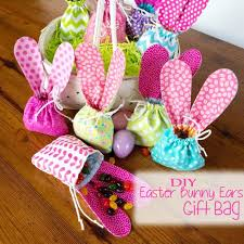 home made decoration diy easter bunny ears gift bag kid craft homemade decoration