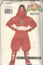 red power ranger costume for toddlers butterick 4182 boys girls teen red ninja power ranger costume