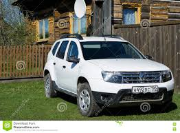 renault duster white white modern car editorial photography image of automobile 70952177