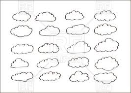 sketch of clouds vector clipart image 69861 u2013 rfclipart
