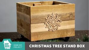 diy christmas tree stand box youtube