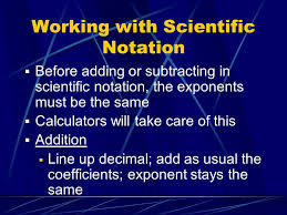 working with scientific notation chapter 3 scientific measurement ppt