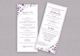 tea length wedding programs diy wedding program instantly editable text chic