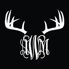 monogram car decal monogram car decal