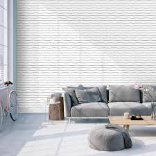 lines self adhesive wallpaper in washed on white by bobby berk for