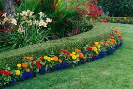 Landscape Flower Garden by Landscape Makeover Use Shrubs Flowers And Furnishings To Make