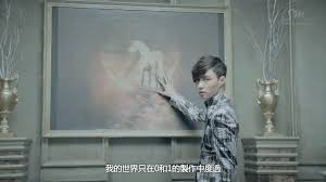 exo mama lay touching a picture of a unicorn asian music invasion