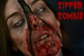 zombie makeup for kids halloween zipper zombie face kids glue u0026 tissue paper halloween makeup