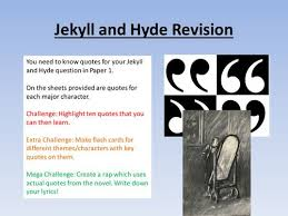main themes dr jekyll and mr hyde dr jekyll and mr hyde chapter by chapter key quotations dr