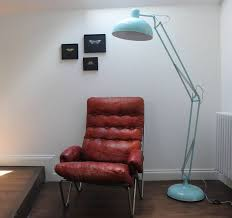 powder blue angled floor lamp by the forest u0026 co