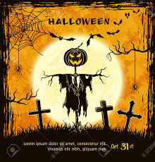 halloween scary background spooky card for halloween orange background with scary jack
