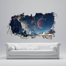 alienscape broken wall moonwallstickers com alienscape broken wall