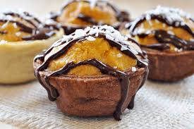 vegan gluten free halloween pumpkin cookie cream cups the