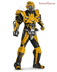 mens theatrical quality transformers movie 3 bumblebee costume
