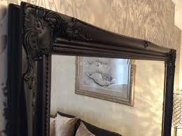 black shabby chic framed ornate overmantle wall mirror range of