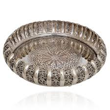 92 5 silver pooja plate with antique finishing antique silver