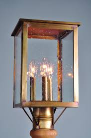 l post light socket post antique brass 3 candelabra sockets seedy marine glass uva1q