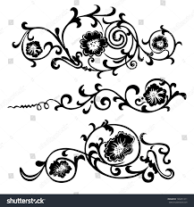 vector swirling elements design flowers ornaments stock vector