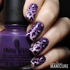 amateur manicure a nail art blog double gradient leopard print