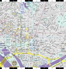 Dc Metro Rail Map by Streetwise Washington Dc Map Laminated City Center Street Map Of