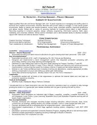 Risk Management Resume Samples by Top Senior Recruiter Resume Samples With Staffing Recruiter Resume