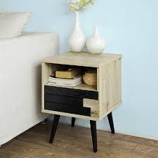 canap tiroir table de chevet table d appoint bout de canapé avec 1 tiroir 1 niche