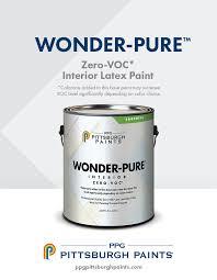 wonder pure zero voc interior latex paint