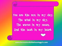 contoh surat cinta dalam bahasa inggris lengkap dengan terjemahan