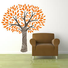 compare prices on tree wall stencil online shopping buy low price magic tree with leaves and swirled trunk wall art sticker vinyl decal room stencil mural home