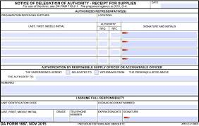 Da Form 4856 Initial Counseling Fillable Da Form 1687 Notice Of Delegation Of Authority Da 1687 Pdf