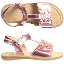 naturino girls metallic pink leather sandals shoes kids