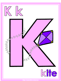 letter k kite theme lesson plan printable activities poster