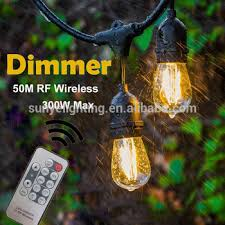 dimmable outdoor led string light outdoor dimmable string lights wireless remote control outdoor led