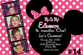 20 printed minnie mouse personalized birthday invitations photo