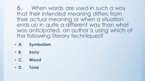 Blue Mood Meaning by Literary Terms U0026 Techniques In American Short Fiction Ppt Download