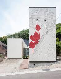 artist adds classic drawings to modern japanese homes u2013 cube breaker