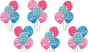 gender reveal balloons girl or boy gender reveal party supplies party city